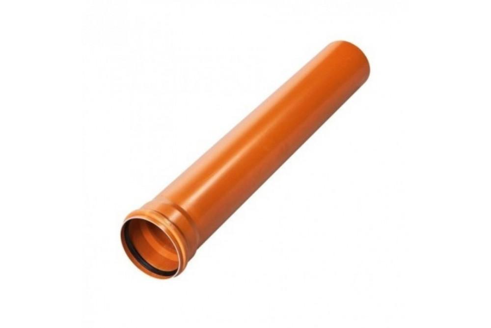 ПВХ труба 110 рыжая 0,5 м