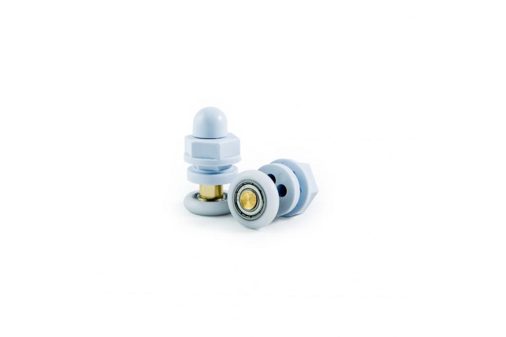 Ролик одинарный 22 мм белый 1-22-Б (1шт.)