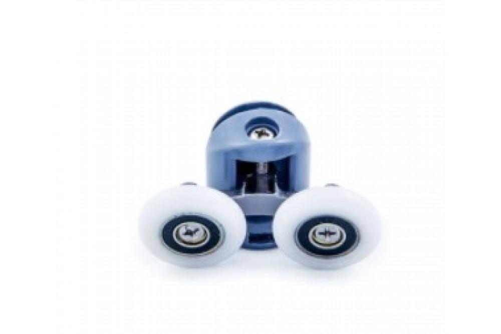 Ролик двойной+одинарный с кнопкой 22 мм серый 2-22-С (2шт.)