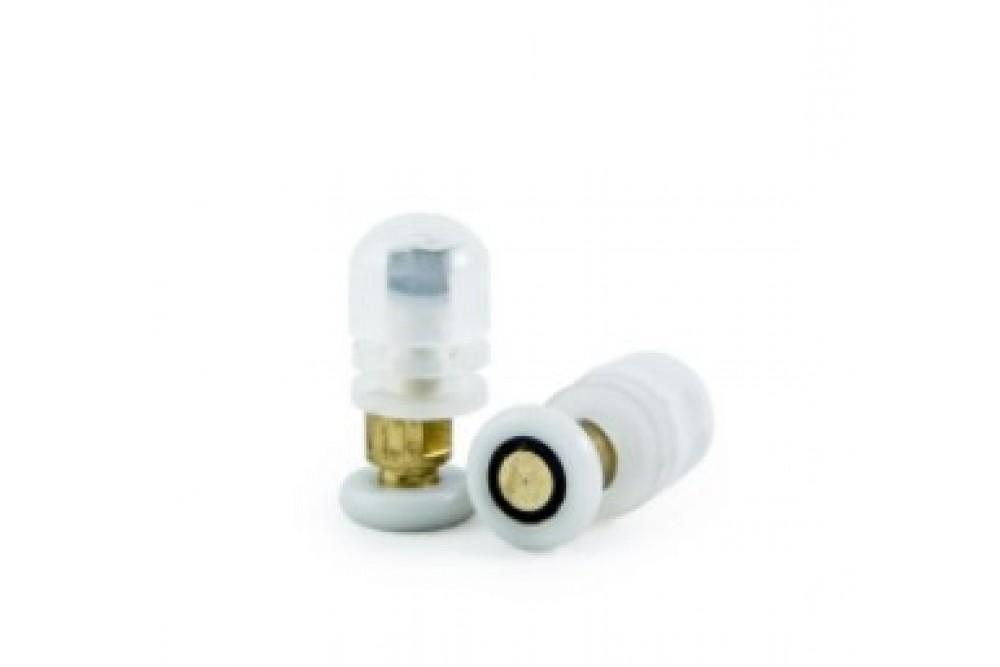 Ролик одинарный 23 мм белый эксцентрик (под 16мм отверстие) (1шт.)