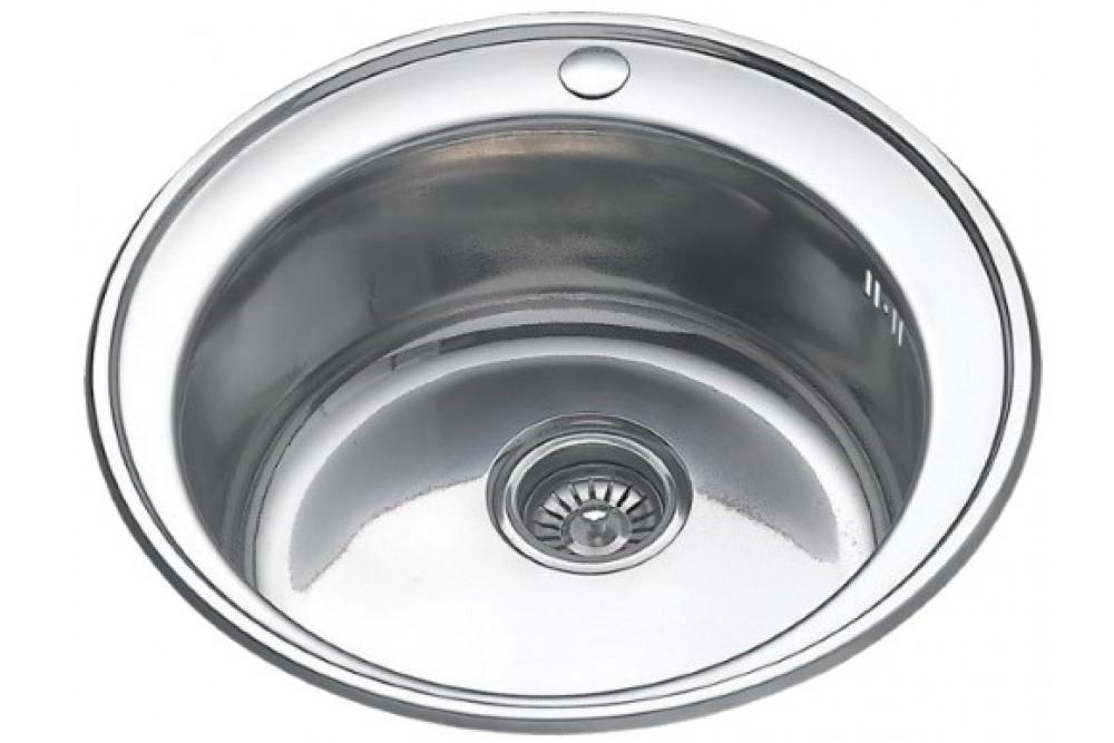 Мойка круглая глянец F60510 (510х175, толщ. 0,6 мм)