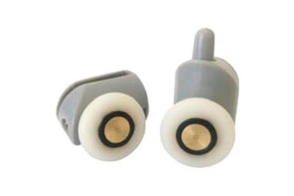 Ролик одинарный с кнопкой 23 мм серый 1-23-С (2шт.)