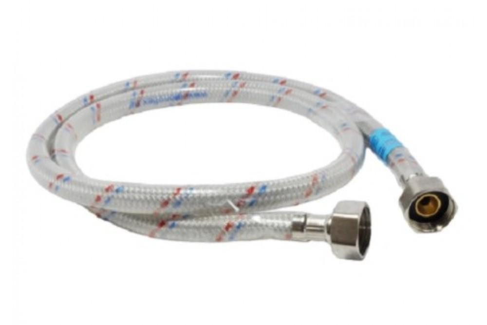 Полимерная подводка для воды 1/2 100 см г.г. Оптима (силикон)
