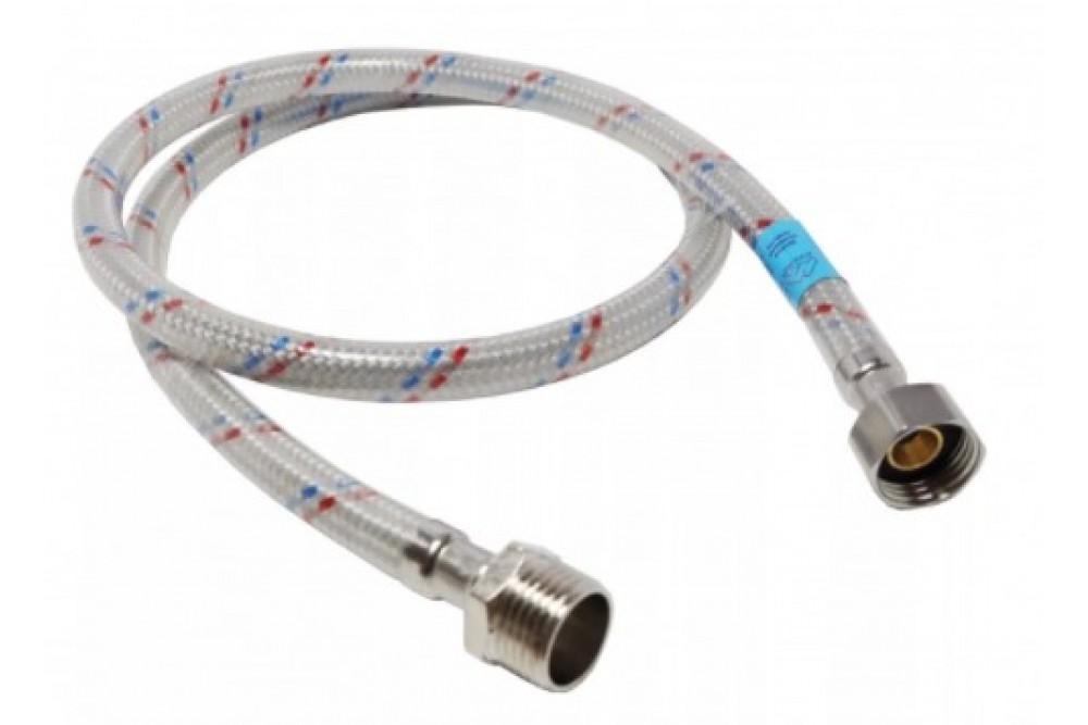 Полимерная подводка для воды 1/2 120 см г.г. Оптима (силикон)