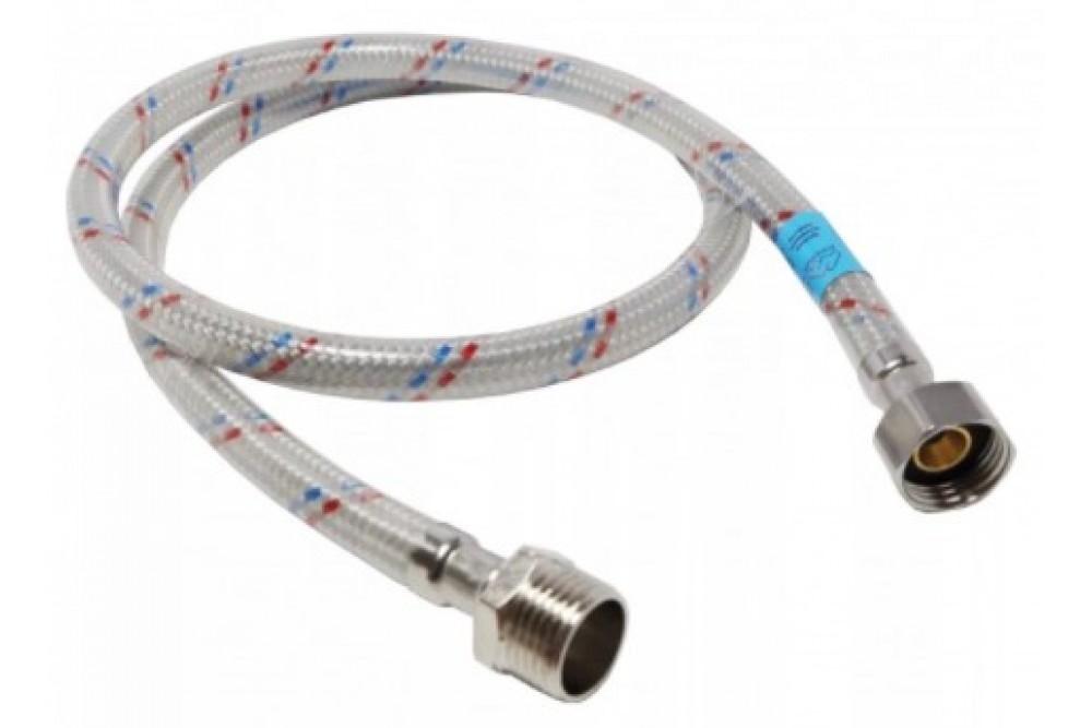 Полимерная подводка для воды 1/2 40 см г.ш. Оптима (силикон)
