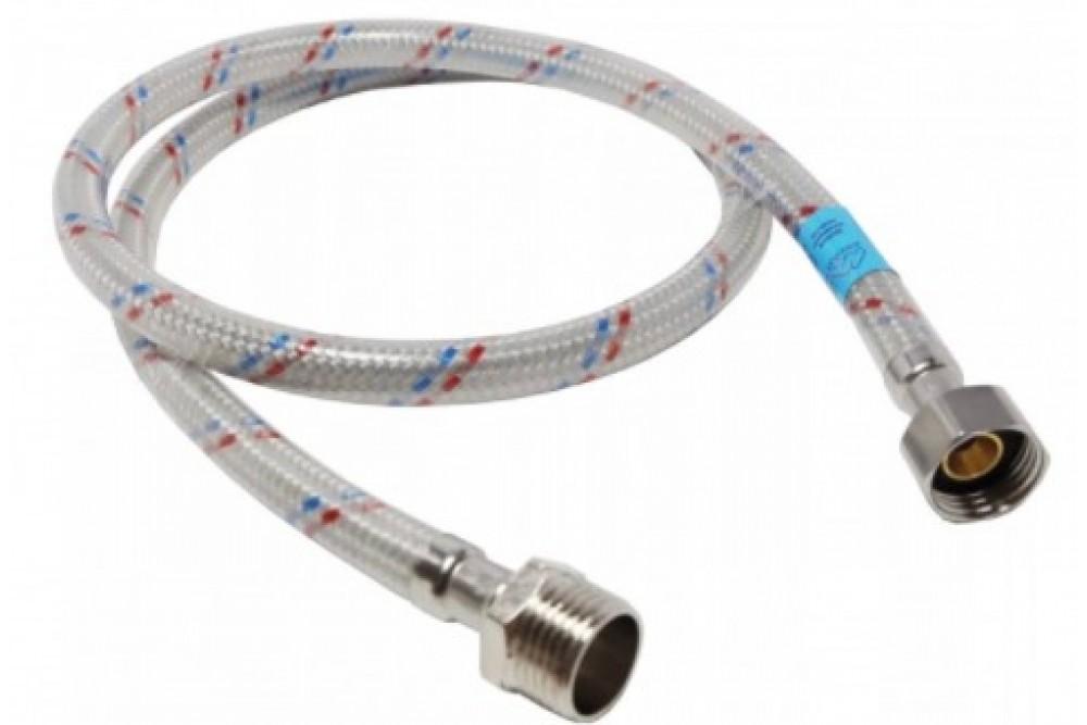 Полимерная подводка для воды 1/2 50 см г.ш. Оптима (силикон)