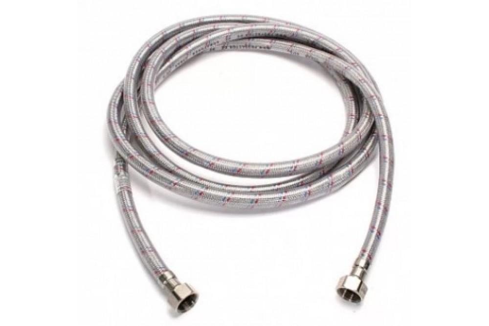 Полимерная подводка для воды 1/2 80 см г.г. Оптима (силикон)