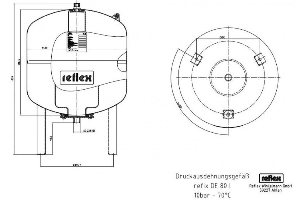 Reflex Расширительный бак 80/10 (гидроаккумулятор)