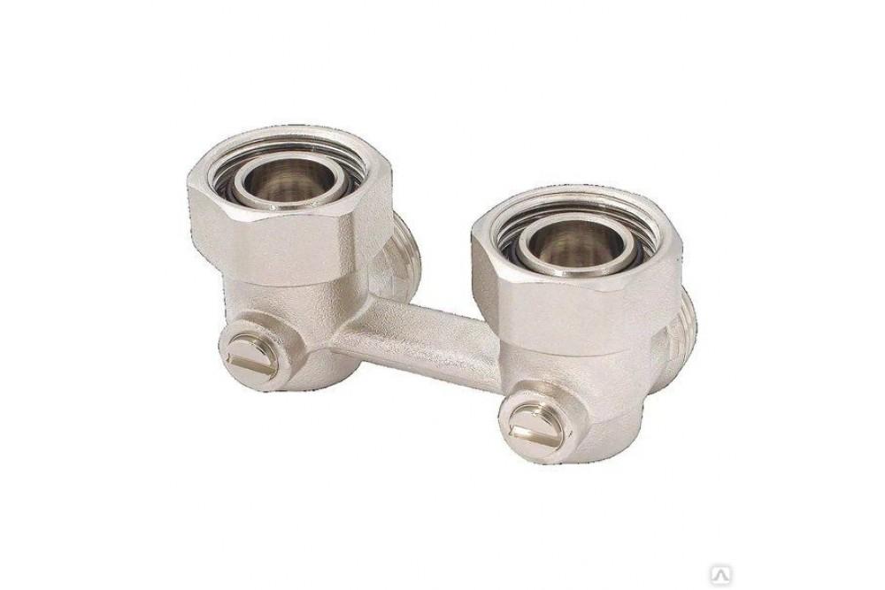 Блок двутрубный угловой для радиатора (штаны) 0