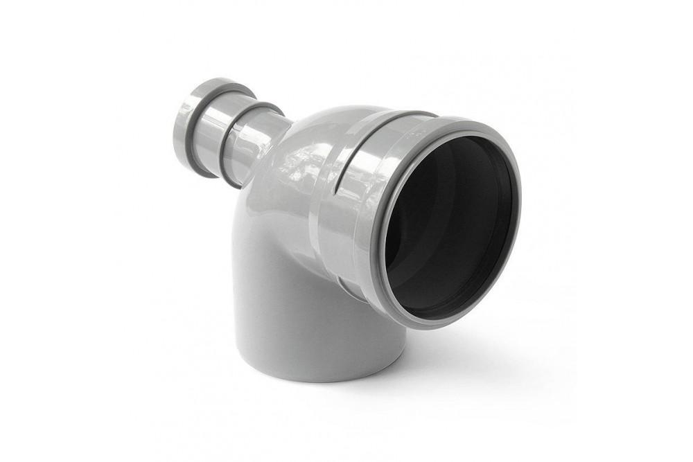 ПВХ угол 110х50х90* прямой серый