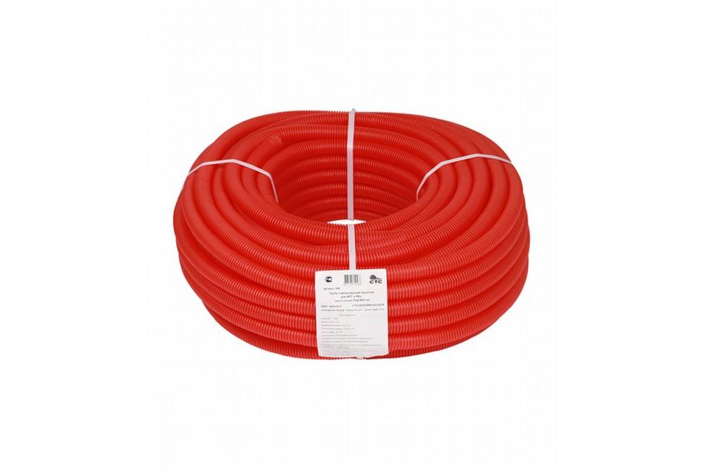 Кожух гофрированный 16 (50 метров красный) 2