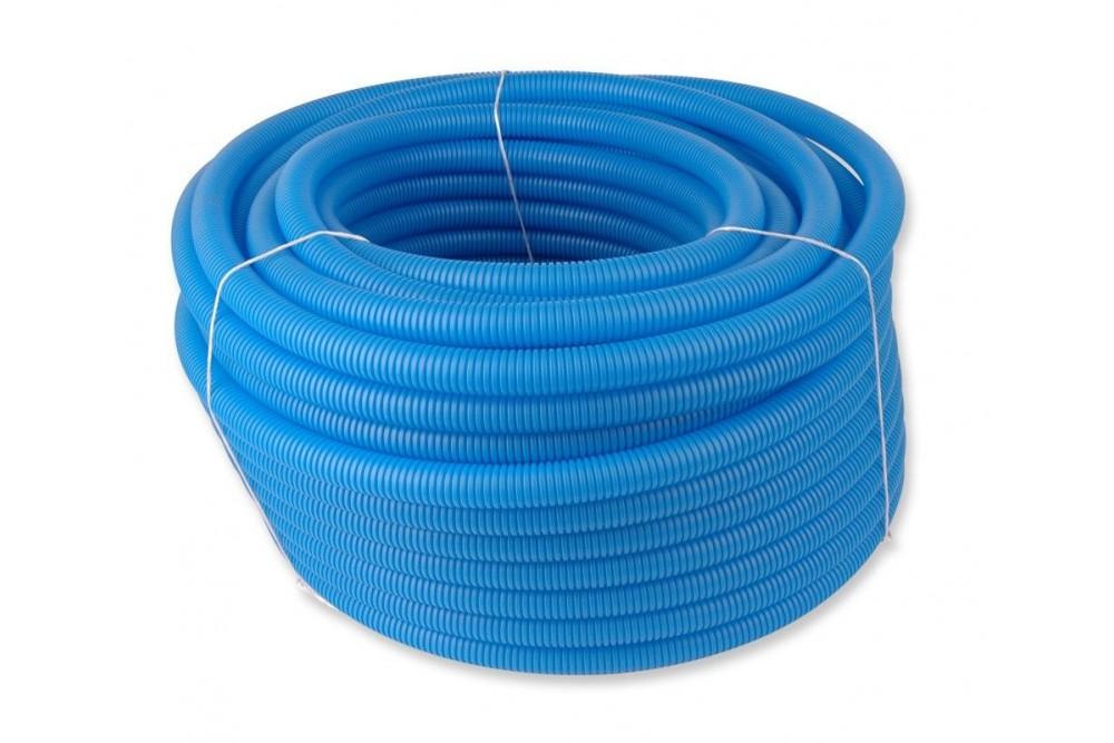 Кожух гофрированный 20 (50 метров синий) 2