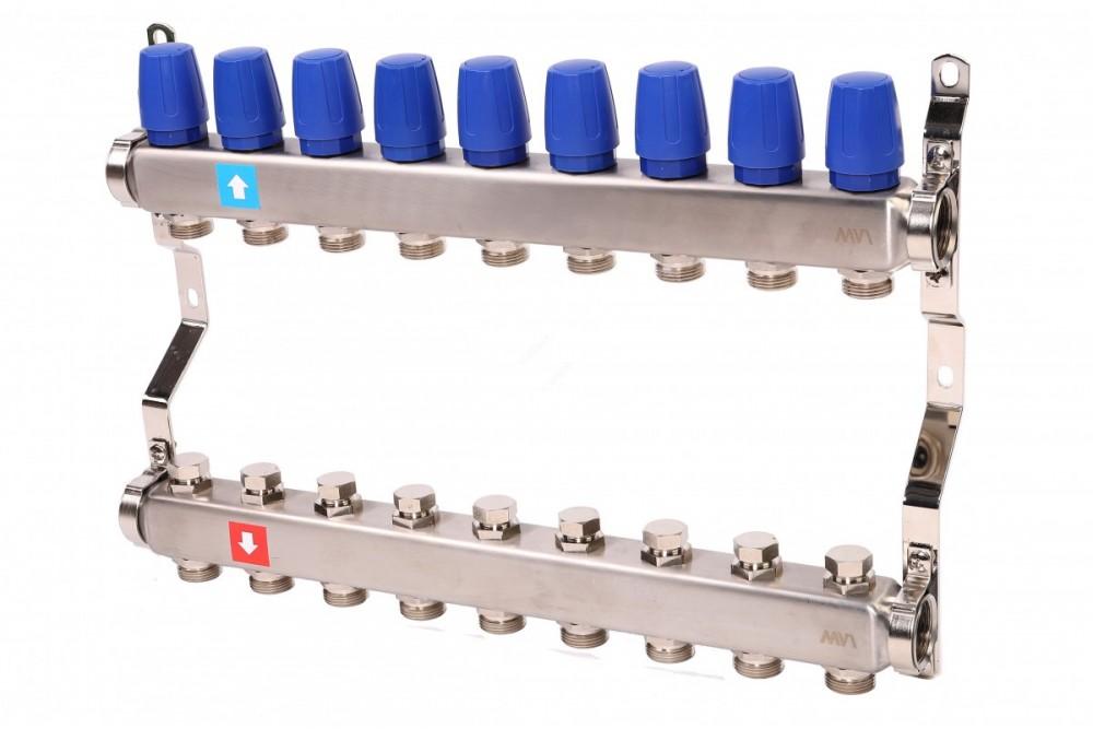 Группа коллекторов с расходом 9 контуров Виеир