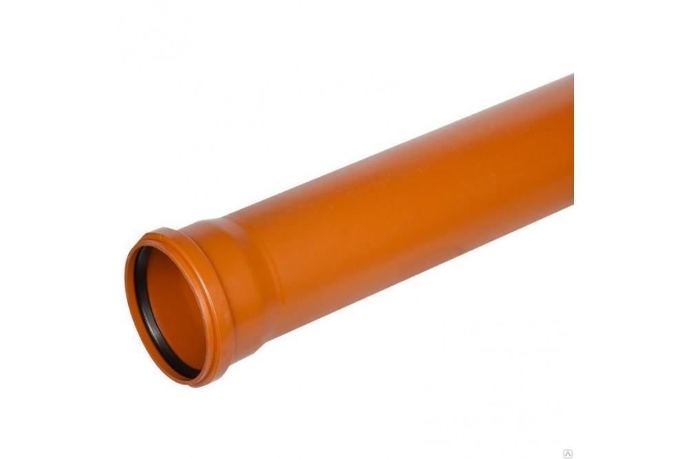 ПВХ труба 160 рыжая 3 метра