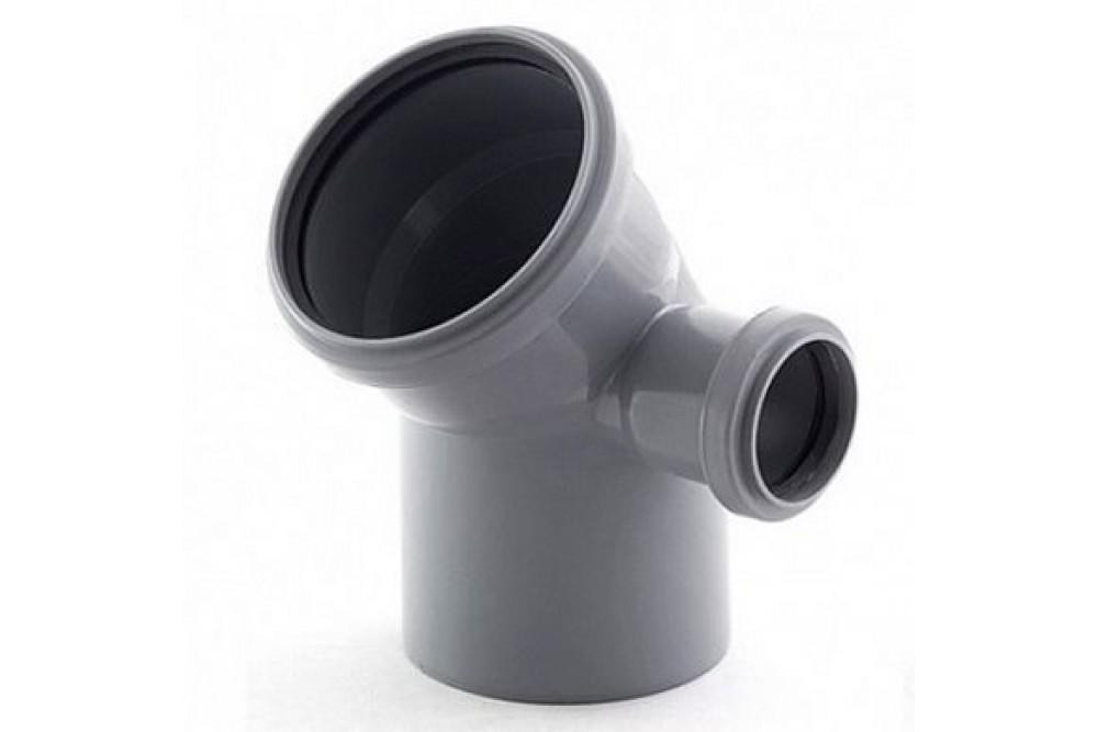 ПВХ угол 110х50х45* правый серый
