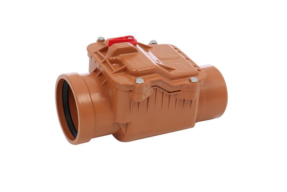 ПВХ Обратный клапан 110 рыжий 2