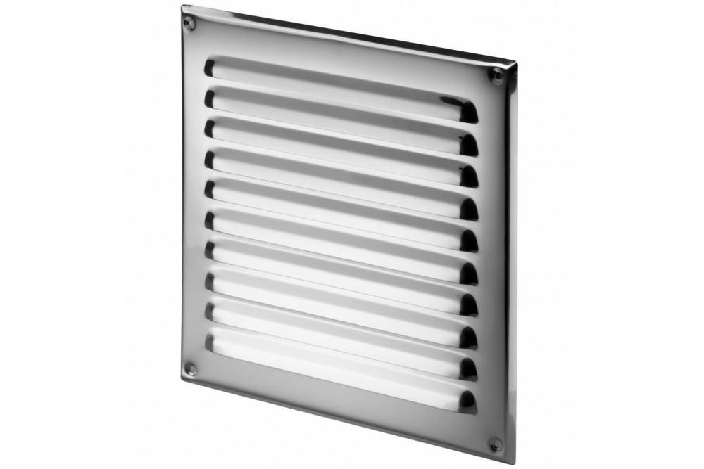 Вентиляционная решетка 20х20 металл хром