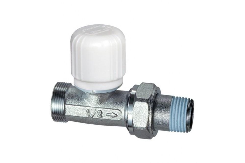 Кран для радиатора отопления прямой 1/2г, ш, термоголовка 31