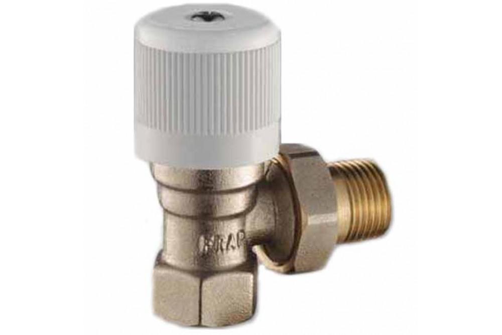 Кран для радиатора отопления прямой 3/4г, ш, нижний люксор 20