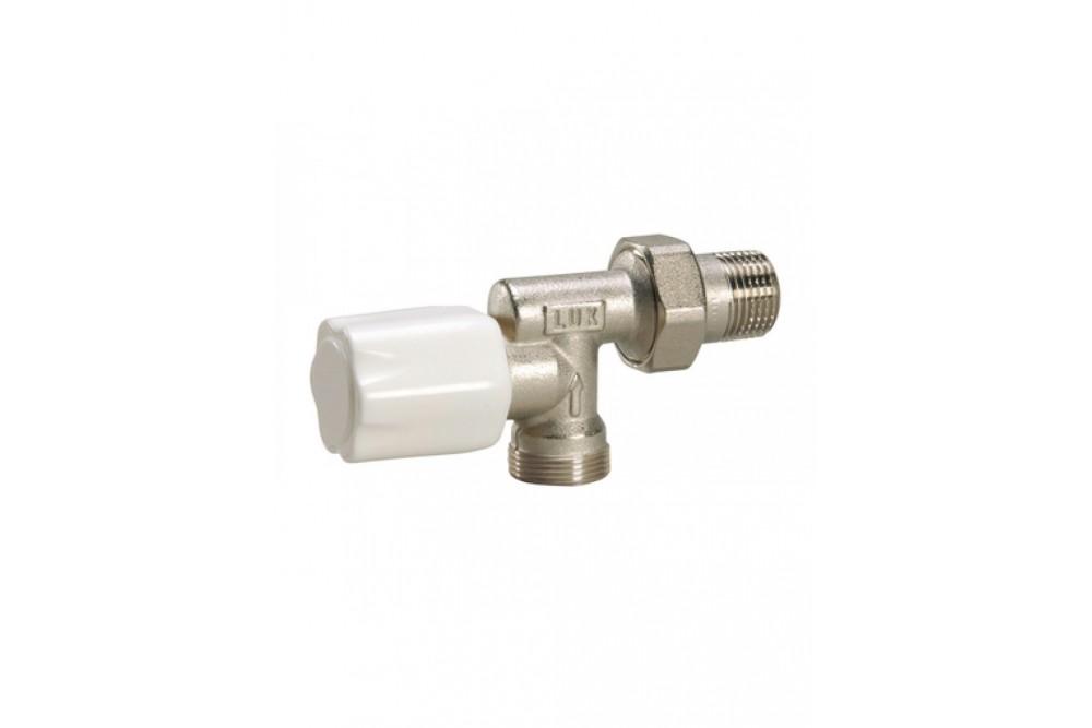 Кран для радиатора угловой 3/4г, ш, верхний люксор 25