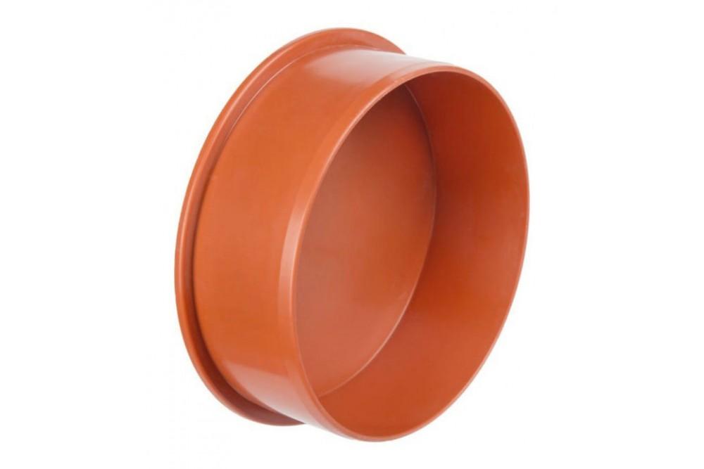 ПВХ Заглушка диаметр 160 рыжая  10