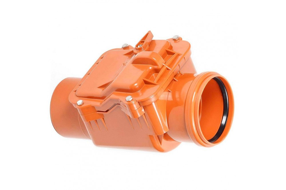 ПВХ Обратный Клапан диаметр 160 (рыжий)  1