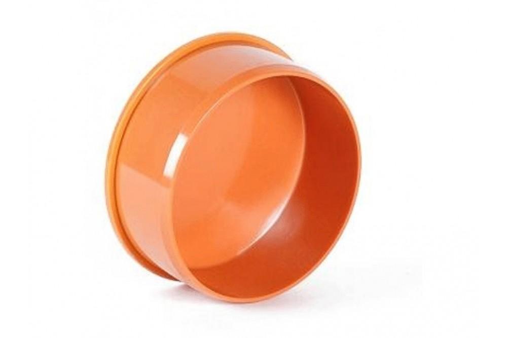 ПВХ Заглушка диаметр 110 рыжая  68