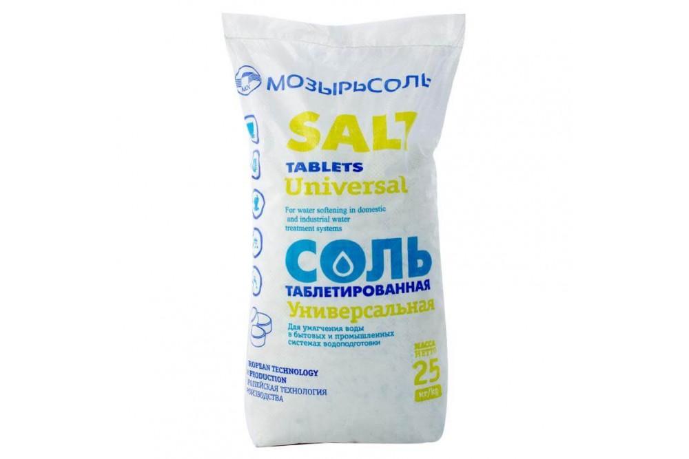 Соль таблетированная Мозырьсоль 25 кг